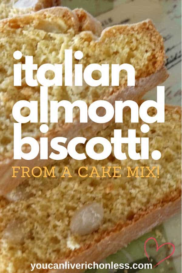 You won't believe this amazing Italian Almond Biscotti recipe is from a cake mix! Yaysss!!! An easy dessert recipe, and oh those rave reviews! But be careful...they are highly addictive! #biscotti #Italian biscotti, #Italianalmondbiscotti, #cakemixrecipes, #cantuccitoscani