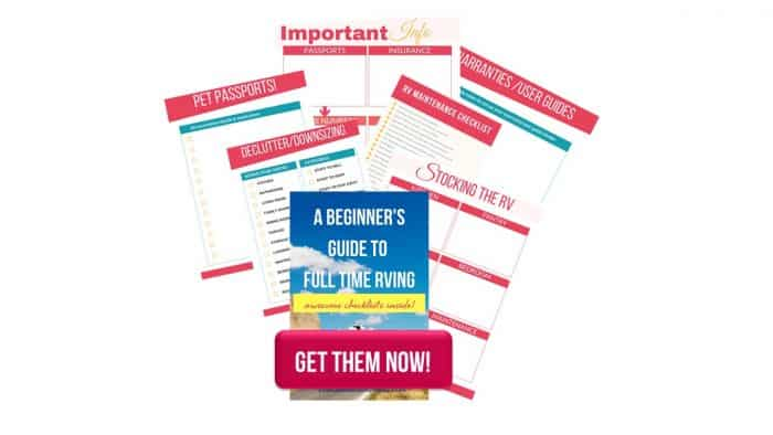 Full time RVing, is it right for you? If you are considering downsizing from a home then this beginner's guide to RVing full time is for you!