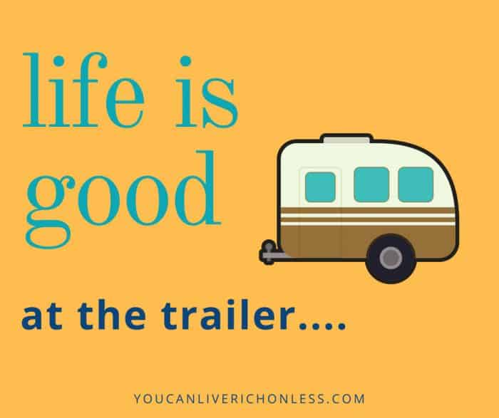 Could You Live In An RV Full Time? Full Time RV Living is very popular! Have you every wondered what it would be like to live in an RV full time? Full time RV Living is affordable too! #youcanliverichonless.com #motorhome #fifthwheel #trailers #rvliving #fulltimervliving #rvlife #fulltimervlivinghacks #fulltimervlivingtips #retirement #lifestyle #withpets