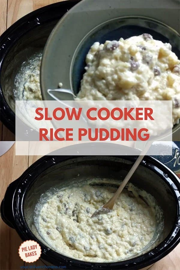 This is the Best Old Fashioned Rice Pudding Recipe That's Big on Flavor! This old fashioned rice pudding recipe in the slow cooker is so creamy and easy to make, uses Arborio rice and raisins, and is THE Ultimate Comfort Food! Be sure to double the recipe though, coz it won't last long! #ricepudding #slowcooker #cozyrecipes #comfortfood
