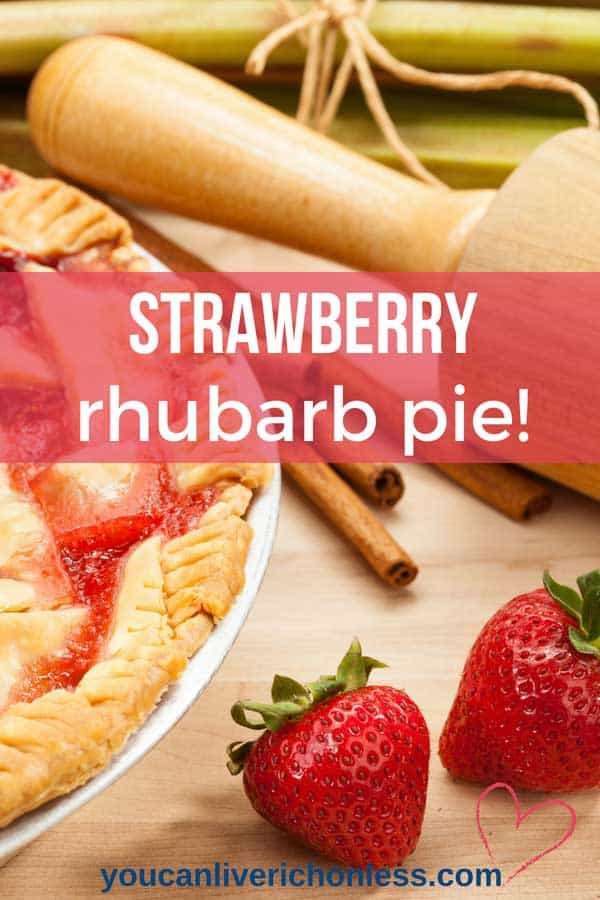 Your Mouth Will Water Over This Easy Strawberry Rhubarb Pie Recipe! The tangy combination of sweet strawberries and tart rhubarb is the best, and the delicious filling is nestled in our perfect flaky pie crust!