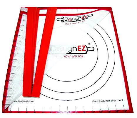 DoughEZ Extra Large 17.5 x 32 Non-Slip Silicone Pastry Dough Rolling Mat