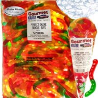 Gummi Gummy Worms Fruit Flavor - Bulk Candy 5Lb Bag
