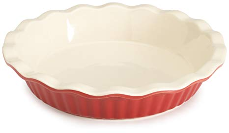 Good Cook RED Ceramic Pie Plate