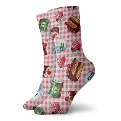 Various Desserts Funny Casual Crew Socks For Sports Boot Hiking Running Etc For Women Man
