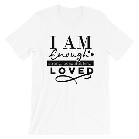 I AM Enough short sleeve T-Shirt