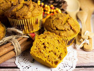 pumpkin muffins ready to eat
