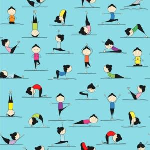 yoga poses cartoon wallpapers surface covering youcustomizeit 4k ultra elegant dining peel stick koleksi common