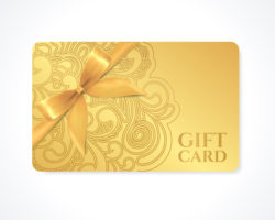wellness gift card gold