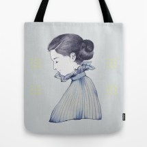 illustration by youdesignme_dance me through the dark_totebag