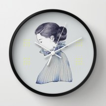 illustration by youdesignme_dance me through the dark_wallclock