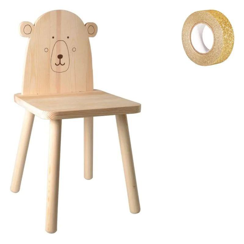 Allunga la vita del tuo bilanciere dandogli una nuova mano di vernice. Sedia Per Bambini Legno 57 5 Cm Orsetto Washi Tape Oro