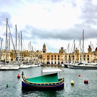boat in malta harbor