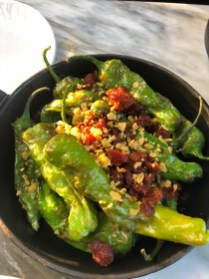 Shishito peppers at broadview hotel toronto