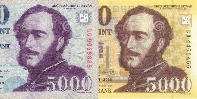 Hungarian Currency old versus new