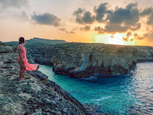 Wied Il Ghsari sunset view
