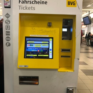 berlin kiosk machine for public transportation