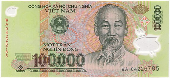 Vietnamese Currency 100,000 dong