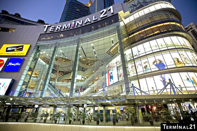 Terminal21 shopping mall in bangkok