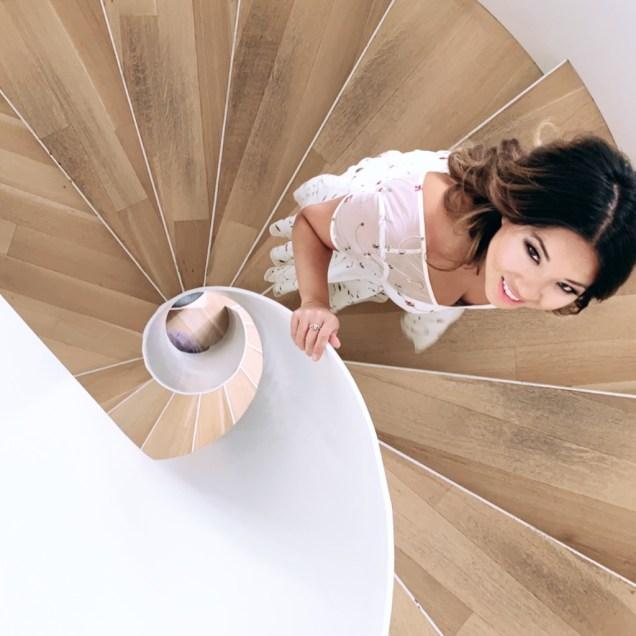 stairwell in Maison de la Littérature