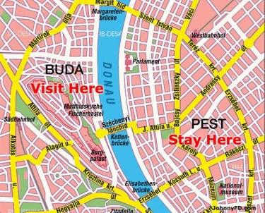 Danube River Map Budapest