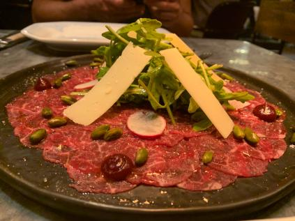 beef carpaccio at sala steak house lisbon