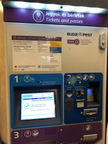 Airport Kiosk for bus transfer Budget Travel Guide To Budapest