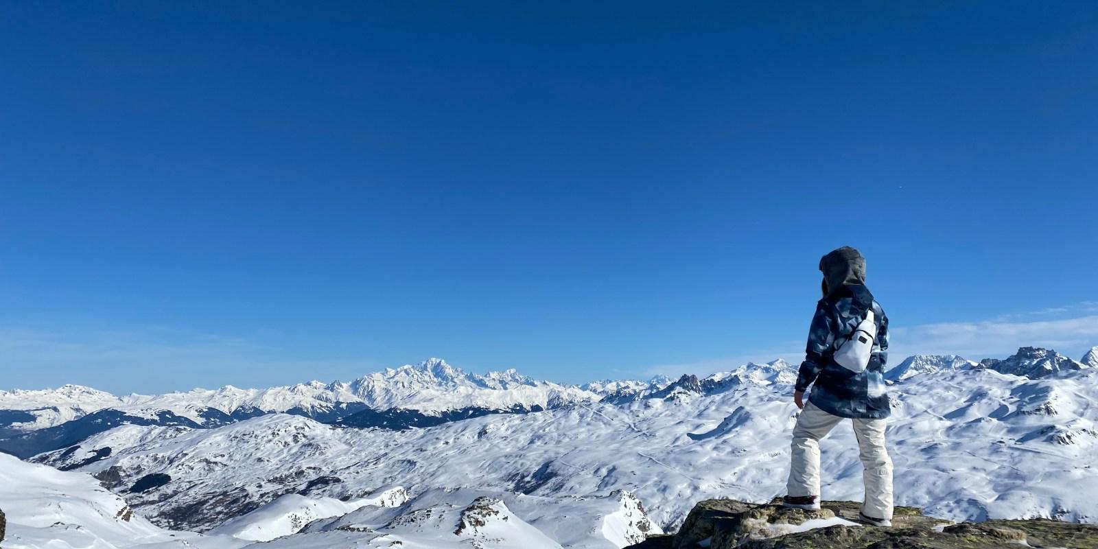 panoramic view ski les 3 vallées on a budget