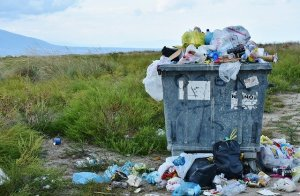Human Environment Interaction leads to trash and waste