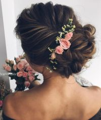 Wedding Hair With Flowers & jewels :