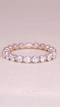 Diamond Rings : A custom rose gold thin diamond eternity ...