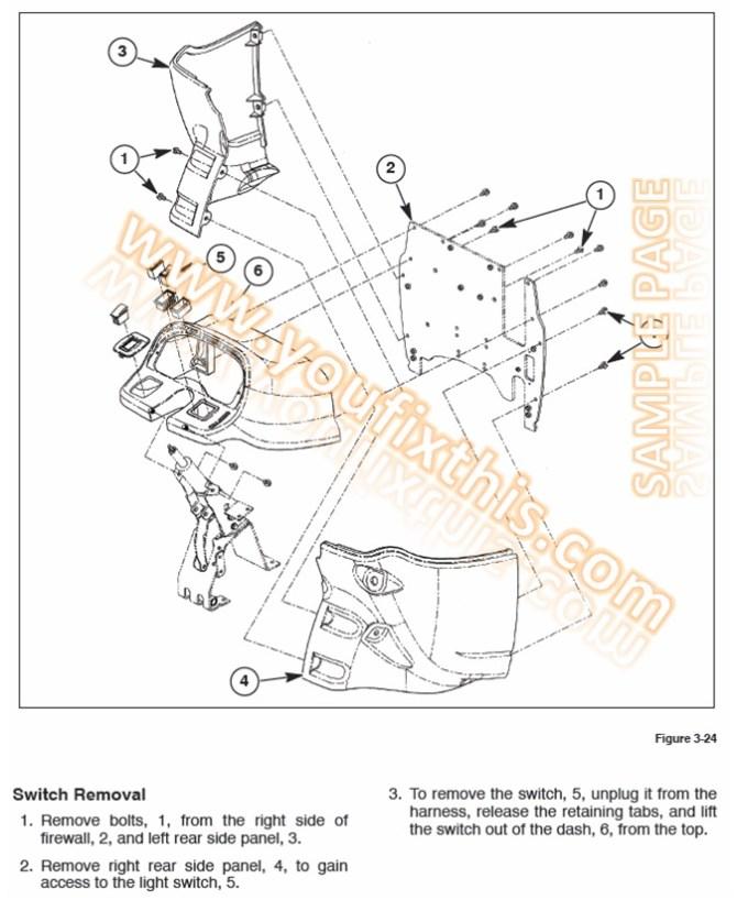 new holland l465 lx465 lx485 repair manual skid steer loader