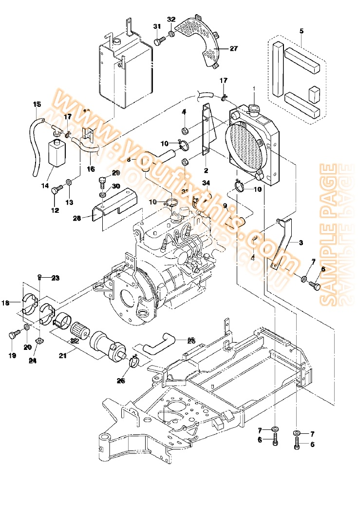 bobcat t190 wiring diagram 6 wire trailer plug schematic www toyskids co ford new holland 455c 555c 655c repair manual tractor