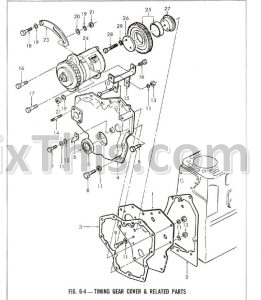 Ford 1000 2 Cylinder Parts Manual List Illustrated