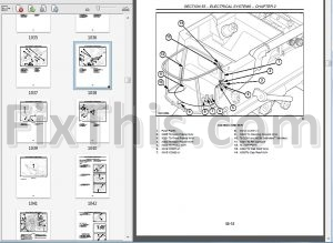 New Holland CX700 CX800 Series Repair Manual [Combine