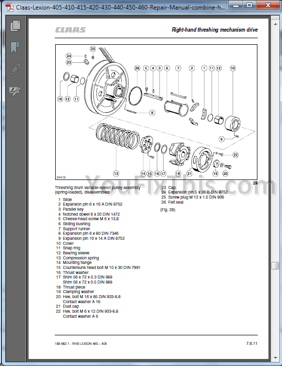 Case 410 420 420CT Repair Manual [Skid Steer Compact Track