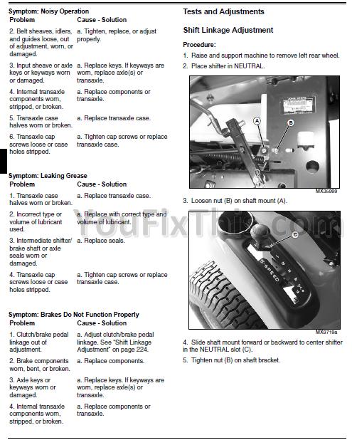 John Deere D140 Wiring Diagram John Deere D100 Series Repair Manual Tractor 171 Youfixthis