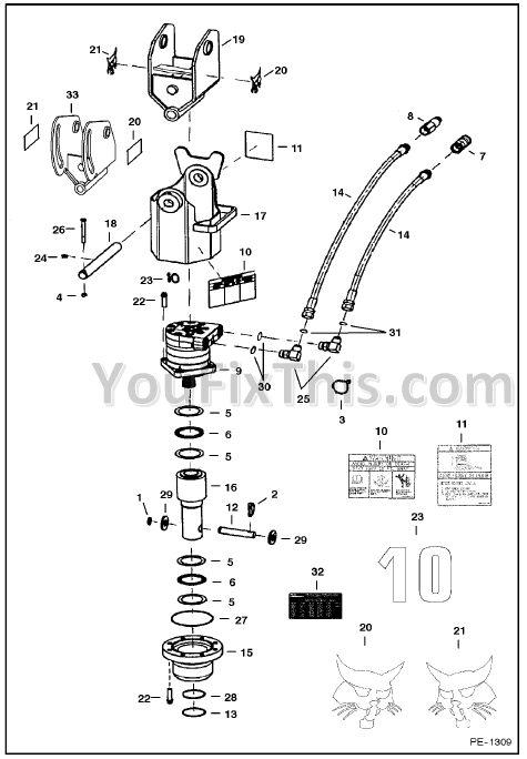 bobcat broom parts list