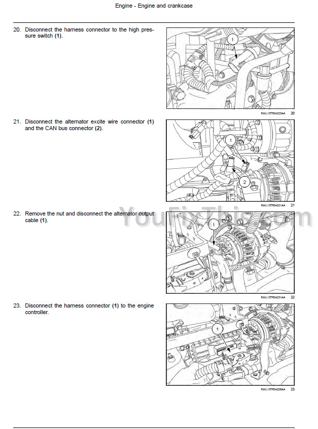 Case Magnum 250 280 310 340 380 / Rowtrac Repair Manual