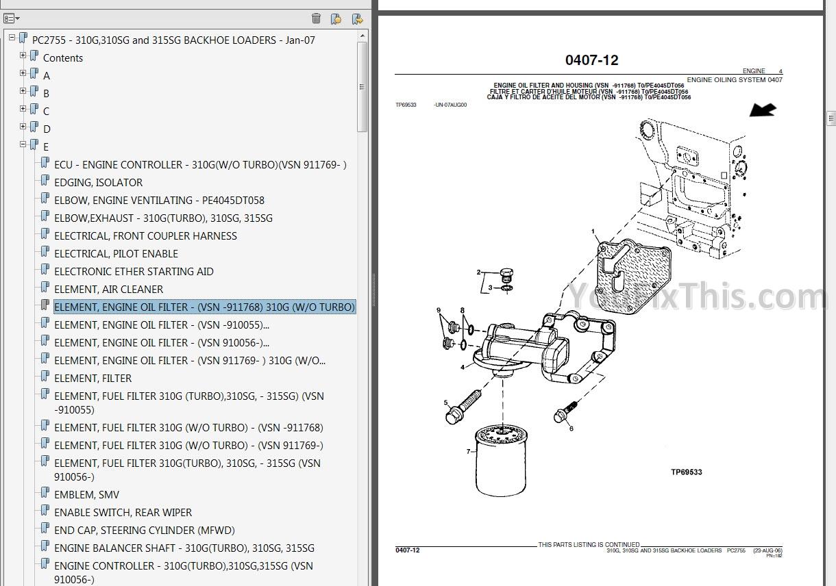 John Deere 310sg 315sg Technical Manual  Backhoe Loader