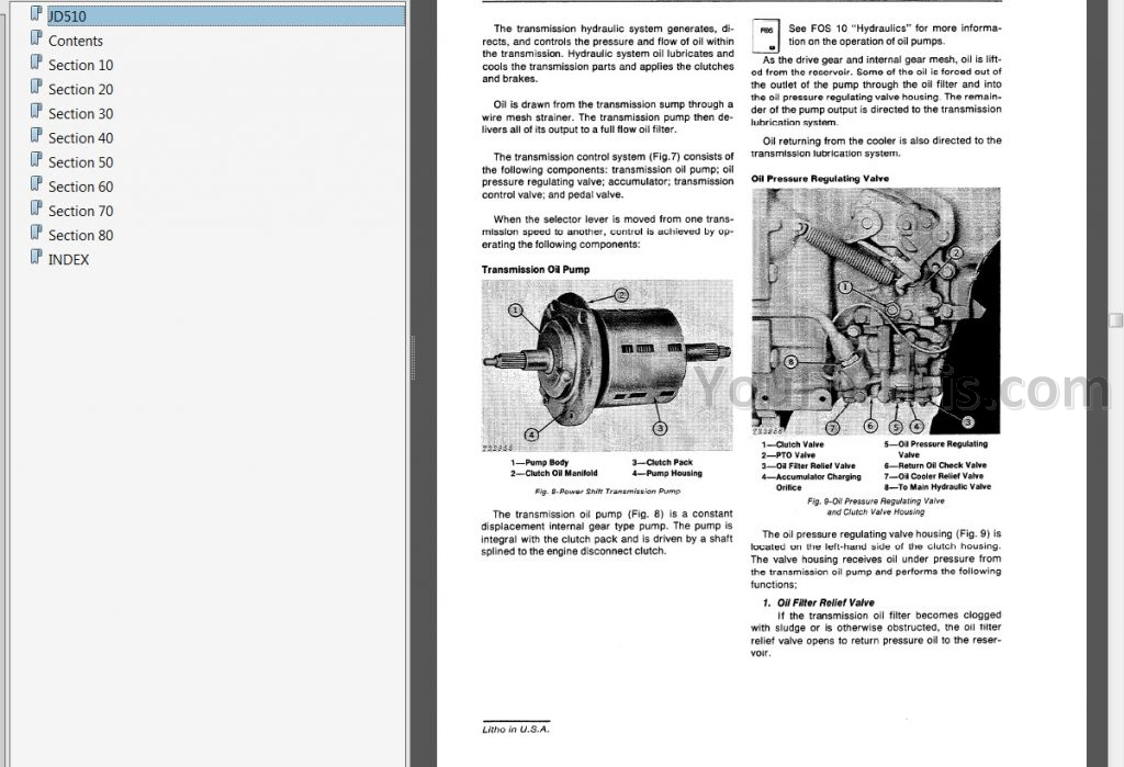John Deere JD510 Repair Manual [Loader Backhoe] « YouFixThis