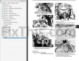 John Deere STX30 STX38 STX46 Repair Manual [Lawn Garden