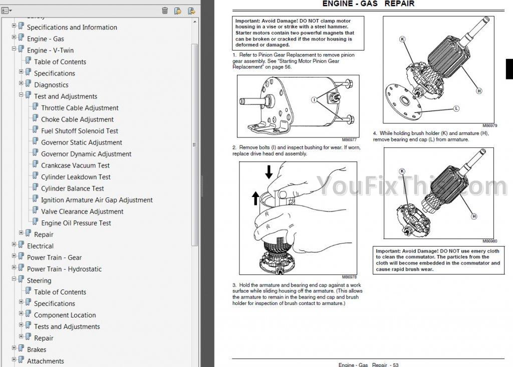 John Deere LA130 LA140 LA150 Repair Manual [Lawn Garden