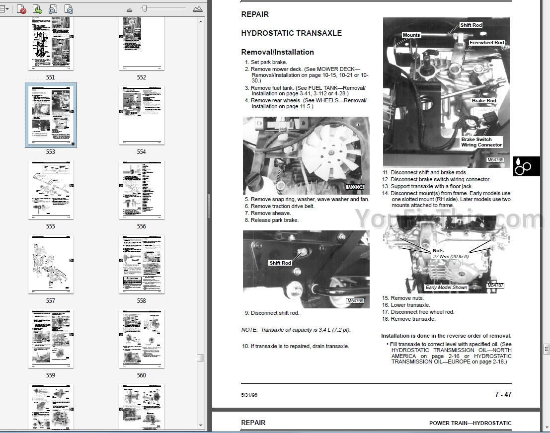 John Deere LX40 LX40 LX40 LX40 LX40 LX40 Repair Manual [Lawn Tractors]