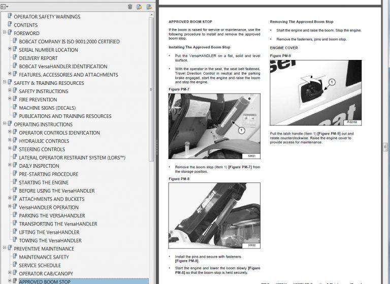 Bobcat Telescopic Tool Carrier Operators and Maintenance