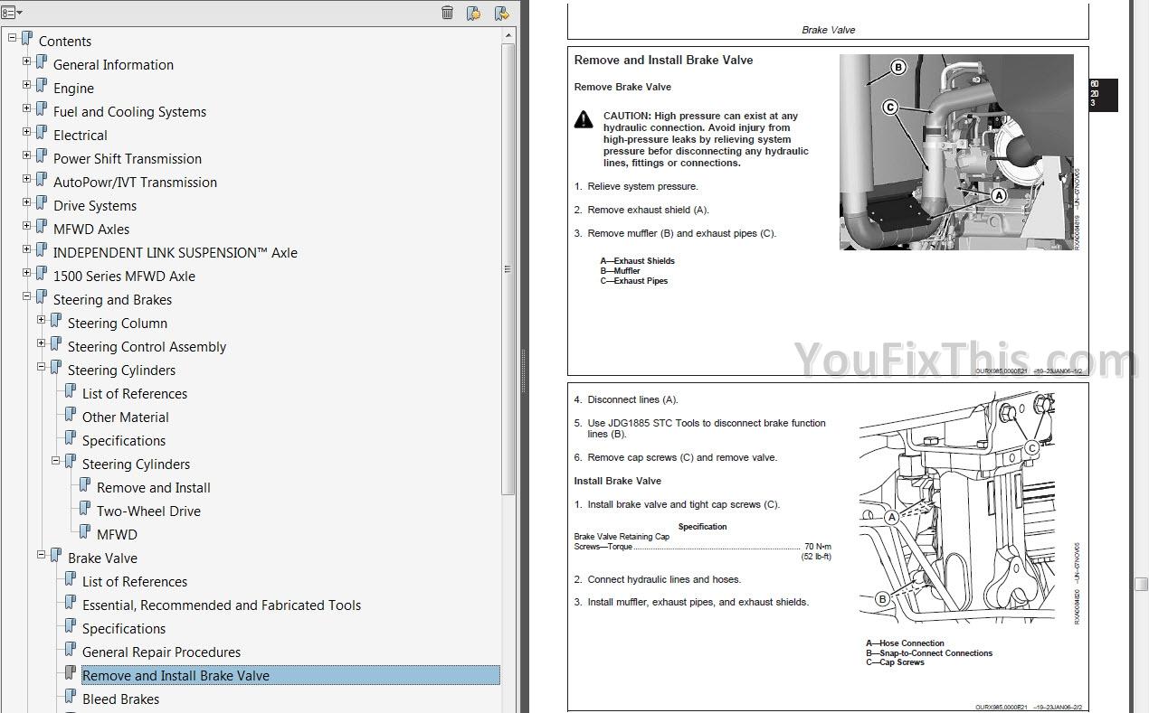 John Deere 8130 8230 8330 8430 8530 Repair Manual [Tractor
