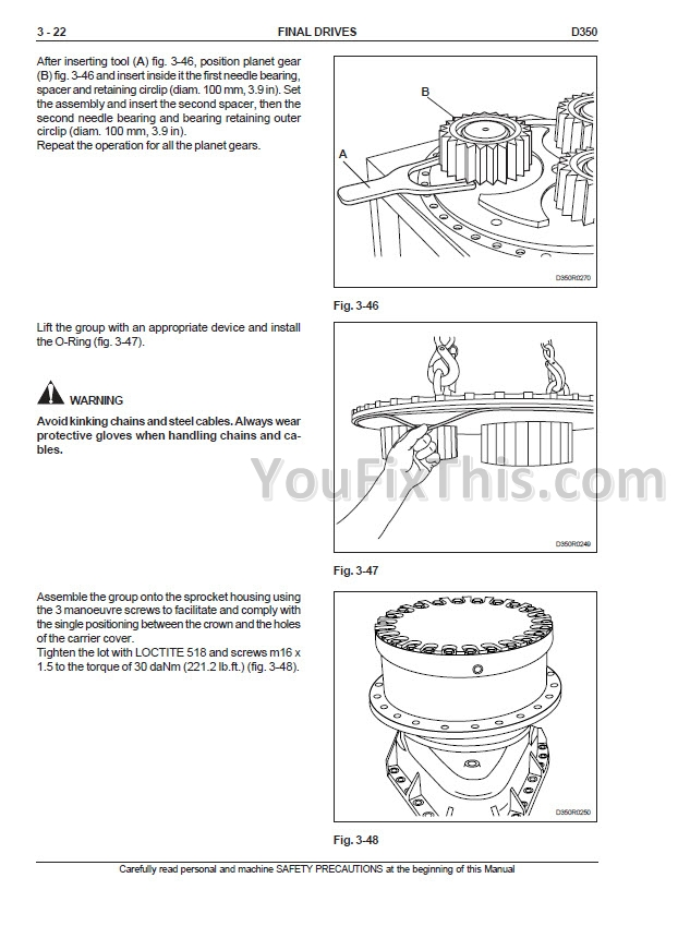New Holland D350 Repair Manual [Crawler Dozer]