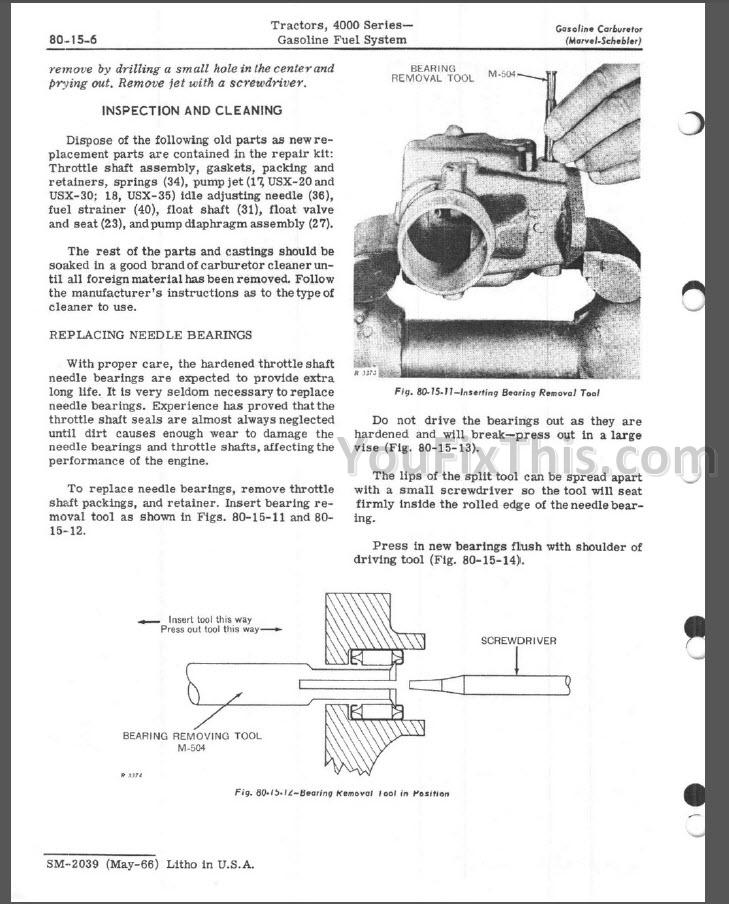 John Deere 4010 4020 Repair Manual [Tractor] « YouFixThis