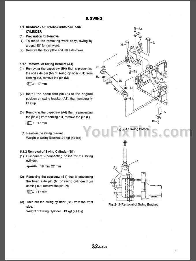 Kobelco Sk15sr Sk20sr Repair  U0026 Parts Manual  Excavator