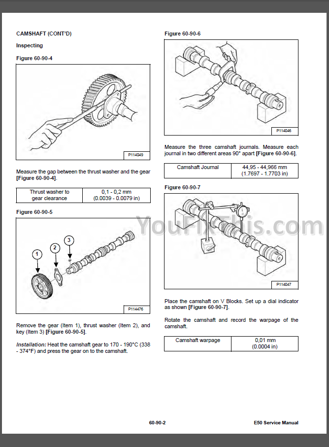 Bobcat E50 Repair Manual [Compact Excavator] 6990724